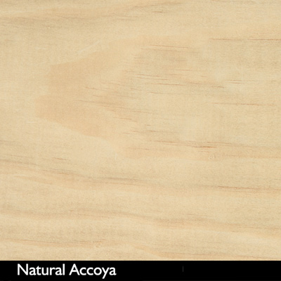 Accoya wood color